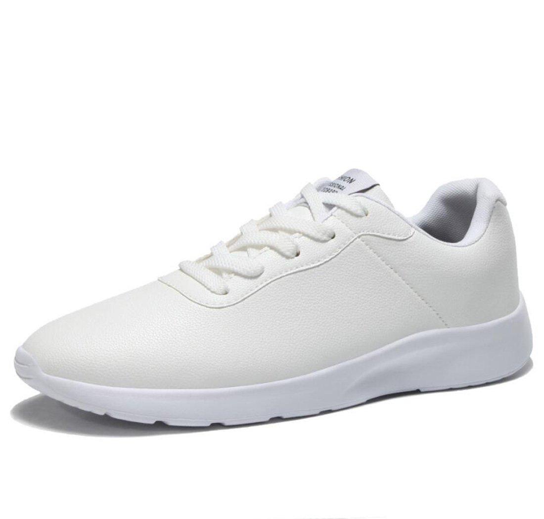 DANDANJIE Zapatos de Hombre Primavera y Otoño Hombres Zapatos Deportivos Zapatos de Viaje Ligeros Zapatos para Correr Zapatos de Caminar Diarios para el Ocio Diario (Color : Blanco, Tamaño : 41 EU) 41 EU|Blanco Blanco