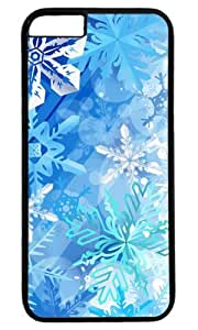 Beautiful Holidays Snowflakes Design Case for iPhone 6 Plus PC Black by Cases & Mousepads