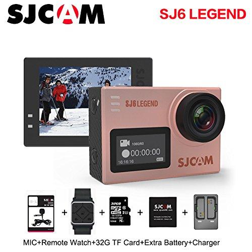 SJCAM SJ6 Legend Sports Action Camera Action Helmet Sports DV Camera 1080P 170 Wide Angle Len Waterproof Action Camera (Rose Gold) by SJCAM