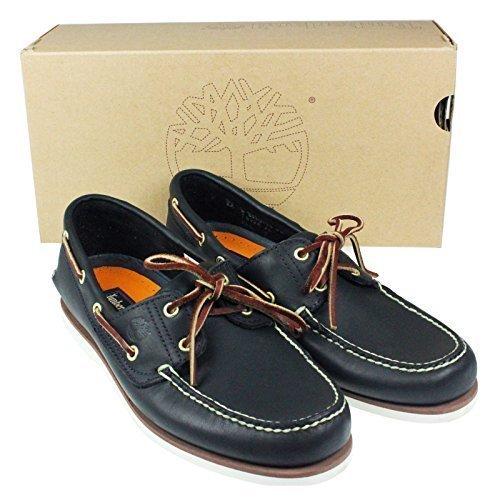scarpe Timberland classic da barca occhielli in cuoio con stringhe cuoiogomma