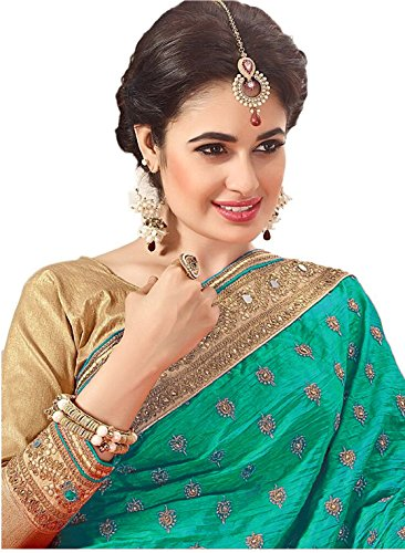 Nivah-Fashion-Womens-Net-Dhupion-Silk-Real-Diamond-With-Embroidery-Dori-Work-Saree-GreenK605A