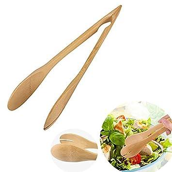 Namgiy - Pinzas para barbacoa de bambú para pan, cocina, boda, fiesta,