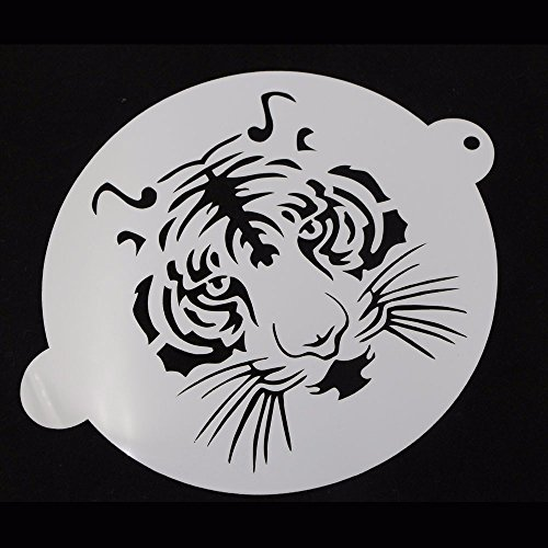 JD Million shop 1Pcs Translucent plastic cake stencil tiger Design for Cake Decoration Cappuccino Decorating Mousse (Death By Chocolate Halloween Cake)