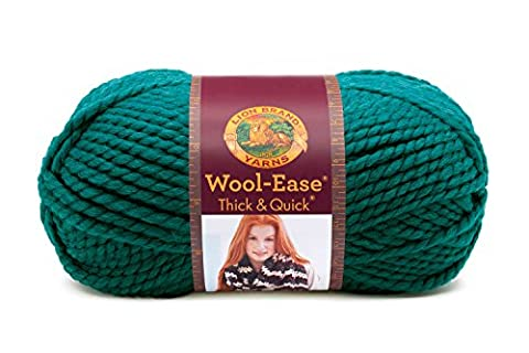Lion 640-171 Wool-Ease Thick & Quick Yarn , 97 Meters, Peacock - Quick Yarn Barley