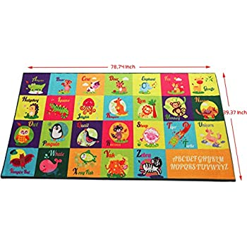 Amazon Com Kids Rugs For Playroom Large Kids Play Rugs
