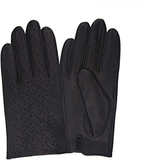 SDFVG Men's Gloves Gants Poignet Respirant Solide Non Doublégants De Conduite en Cuir Noir Marron Gants Chauds pour Hiver, Brun Foncé, S