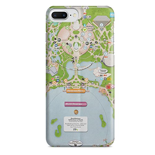 Queen of Cases Hard Shell Phone Case - Epcot Center - Map Center Queens