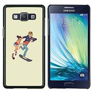 Patinaje niños- Metal de aluminio y de plástico duro Caja del teléfono - Negro - Samsung Galaxy A5 / SM-A500