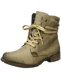 Rieker Women Ankle Boots beige, (kiesel/mogano) 70829-64