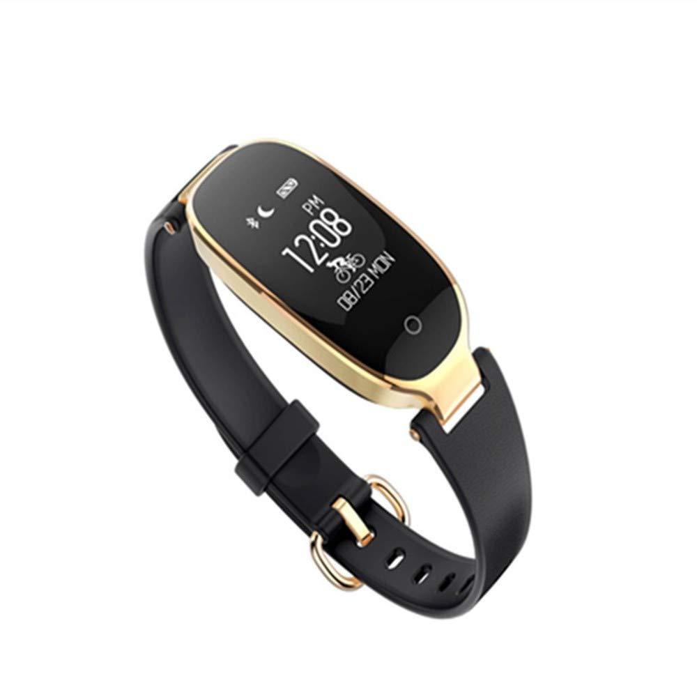 Kor noir  ZXMZNSH intelligent Bracelet Activité Tracker Podomètre Bracelet Intelligent Capteur De Gravité écran Vertical Pression Artérielle Fréquence voiturediaque Santé Les Les dames Montre