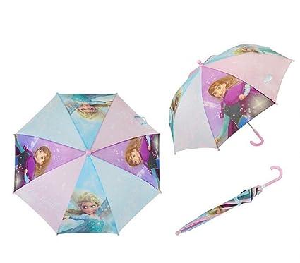 WD17493 Paraguas 57 cm para niña con motivo de Frozen Disney Ana y Elsa