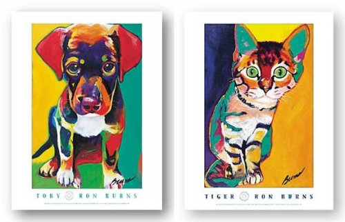 (Tiger and Toby Set by Ron Burns 13.5