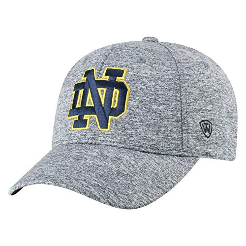 Top of the World Notre Dame Fighting Irish Men's Hat Icon, Charcoal, Adjustable