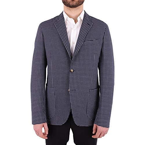 ETRO Men's 1G1071261200 White/Blue Cotton Blazer