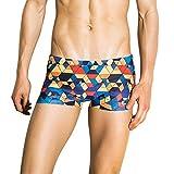 Women's Swimsuits Tankini Tronet Fashion Men Breathable Trunks Pants Beach Print Running Swimming Underwear Red