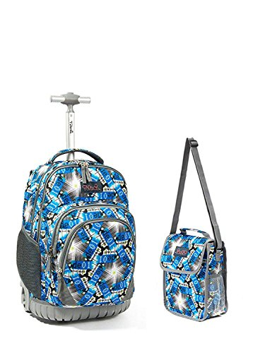 af6ac2fbf578 Tilami New Antifouling Design 18 Inch Wheeled Rolling Backpack Luggage and  Lunch Bag