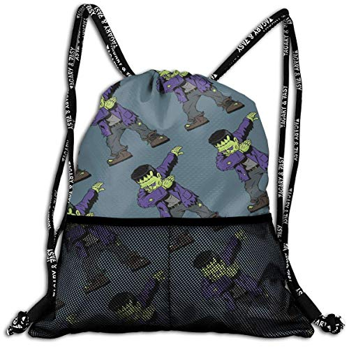 ShenCai Frankenstein Funny Halloween Monsters Drawstring Backpack Bags Sport Gym Treat -