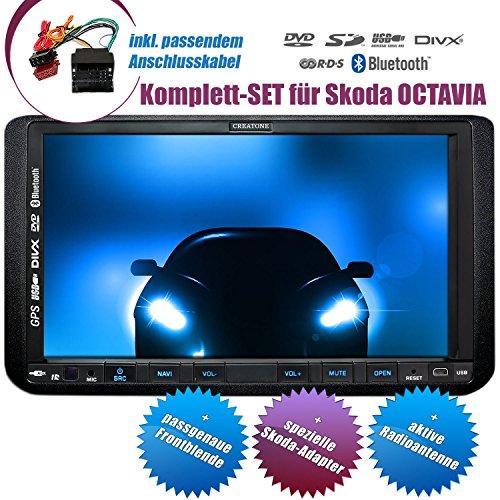 2DIN Autoradio CREATONE CTN-9268D56 für Skoda Octavia 2 (2004 - 2012) mit GPS Navigation, Bluetooth, Touchscreen, DVD-Player und USB/SD-Funktion
