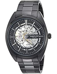 Men's Automatic Stainless Steel Casual Watch, Color:Black (Model: KC50064004)