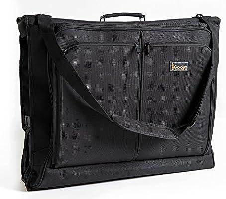 fb27be6cd8a4 Best Garment Bag - Black Carry On Suit Bag Dress Bag for Travel   Business  Trips -w Hanging Hook   Shoulder Strap- for Men and Women - Folding  Wardrobe ...