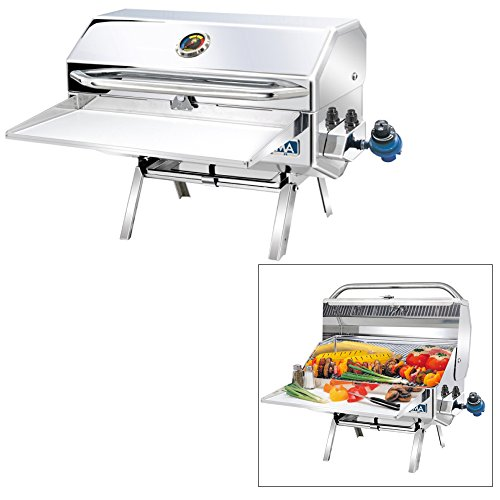 Magma Products, A10-918-2 Newport 2 Gourmet Series Gas Grill, Polished Stainless Steel by Magma Products