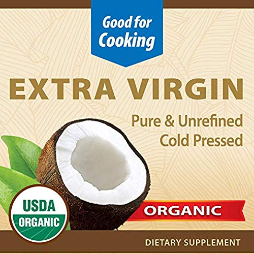 Nature's Way Organic Extra Virgin Coconut Oil- Pure, Cold-pressed, Organic, Non-GMO, (Two Pack - 32 Ounce) by Nature's Way (Image #1)