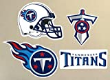 Tennessee Titans Mini FATHEAD Team Set of 4 Titans Logo Official NFL Peel and Stick Re-Usable Vinyl Wall Graphics 3