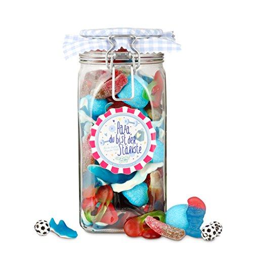 Papas ganzer Stolz, bunter Süßigkeiten-Mix im großen Glas, perfektes Geschenk zum Vater-Tag