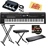 Roland RD-2000 Stage Piano Bundle with Roland RPU-3 Pedal Unit, Adjustable Stand, Bench, Dust Cover, Austin Bazaar Instructional DVD, and Polishing Cloth