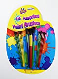 Card and Party Store 15 Assorted Paint Brushes Set For Kids Large Small Children Boys Girls Craft Art