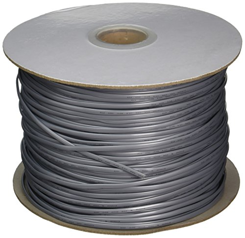 C2G 07193 28 AWG 4-Conductor Bulk Modular Flat Telephone Cable, Silver Satin (1000 Feet, 304.8 Meters)