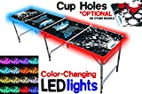 8-Foot Beer Pong Table w/ LED Glow...