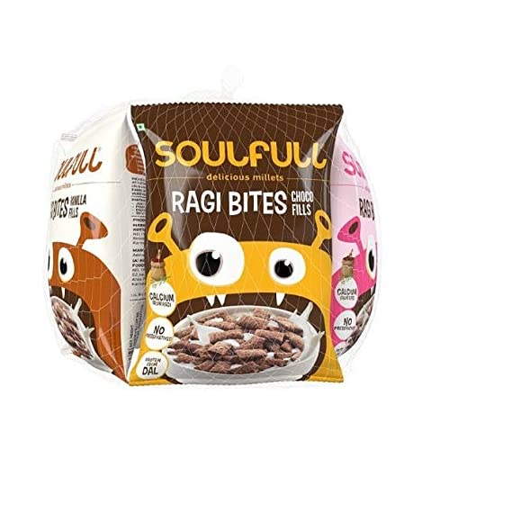 Soulfull Choco Vanilla Fills, 6x30g (Pack of 6) with free snack box