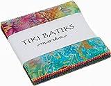 "Tiki Batiks Moda Charm, 42 - 5"" Precut Fabric Quilt Squares By Moda offers"