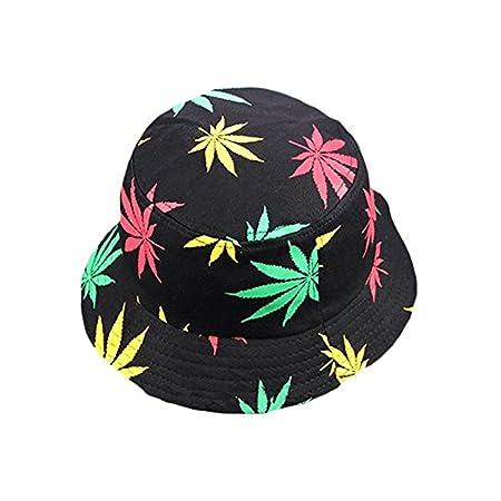 TREESTAR Sombrero de verano, hoja de arce, unisex, con parte superior plana, para actividades al aire libre, turismo, protección solar,…