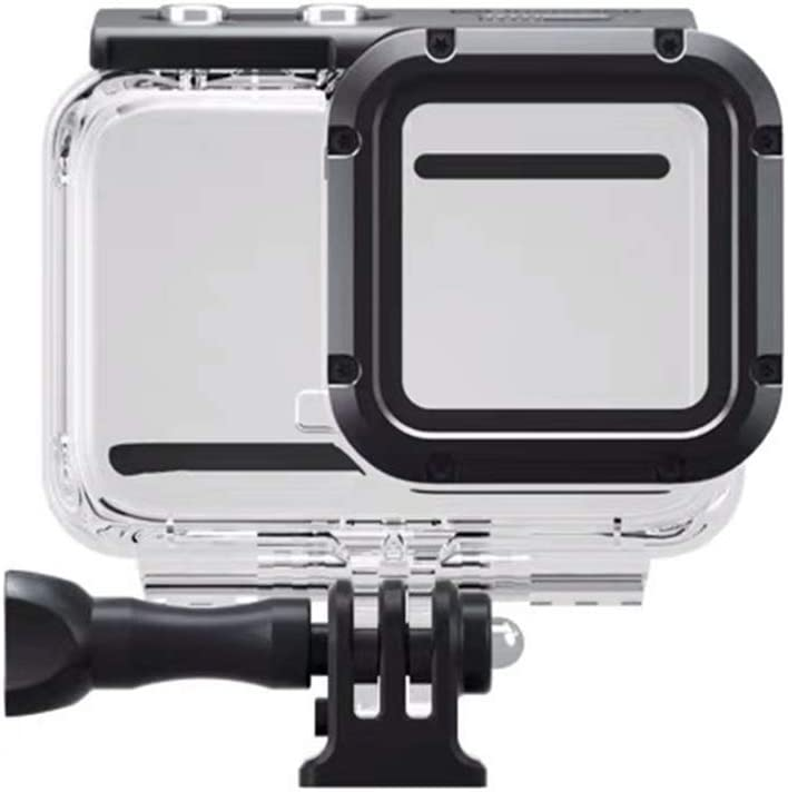 Waterproof Housing Case for Insta360 ONE R 4K Wide Angle Mod, Underwater Diving Protective Shell 60M/196FT with Bracket Accessories