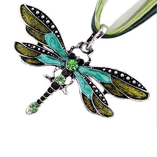 Miraclekoo Dragonfly Inlayed Rhinestone Necklace product image