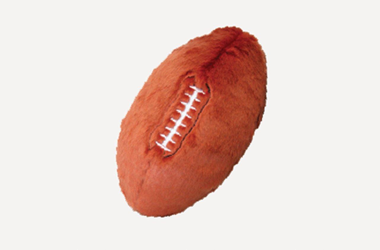 Fluff & Tuff Football Plush Dog Toy