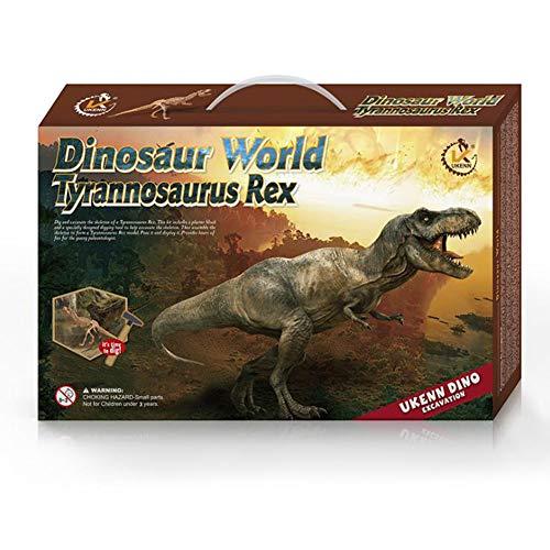 Tyrannosaurus Rex Exploración Arqueológica Dinosaurio Fósil Modelo Museo Geografía Reunido Ciencia Libro De Texto...