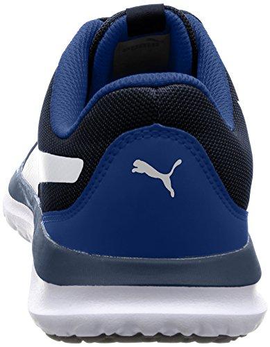 Puma Flext1, Zapatillas Unisex Adulto Azul (Peacoat-puma White 02)