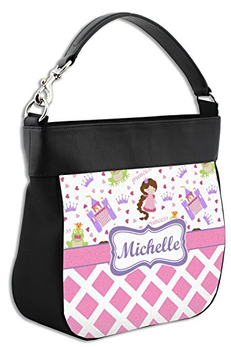Genuine Front Leather Trim w Print Personalized Purse Princess Hobo Diamond amp; znqaYP
