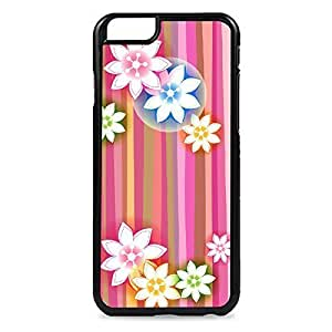 Case Fun Case Fun Flower and Stripes Pattern Snap-on Hard Back Case Cover for Apple iPhone 6 4.7 inch