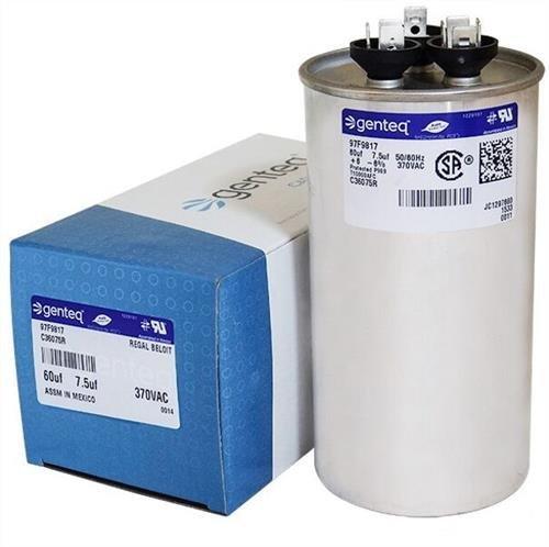 (GE Genteq Round Capacitor 60 7.5 uf MFD 370 Volt Z97F9817 97F9817)