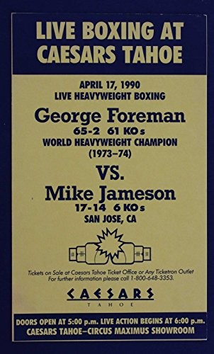GEORGE FOREMAN VS MIKE JAMESON LIVE BOXING AT CAESARS TAHOE APR 17 1990 - The Shops At Caesars