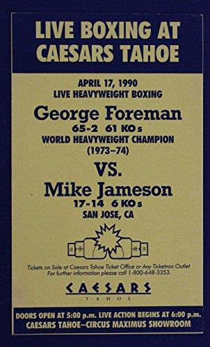 GEORGE FOREMAN VS MIKE JAMESON LIVE BOXING AT CAESARS TAHOE APR 17 1990 - At The Shops Caesars