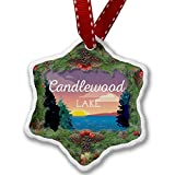 Christmas Ornament Lake retro design Candlewood Lake - Neonblond