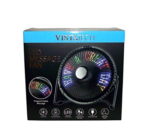 VistaTech LED Message Tabletop Fan
