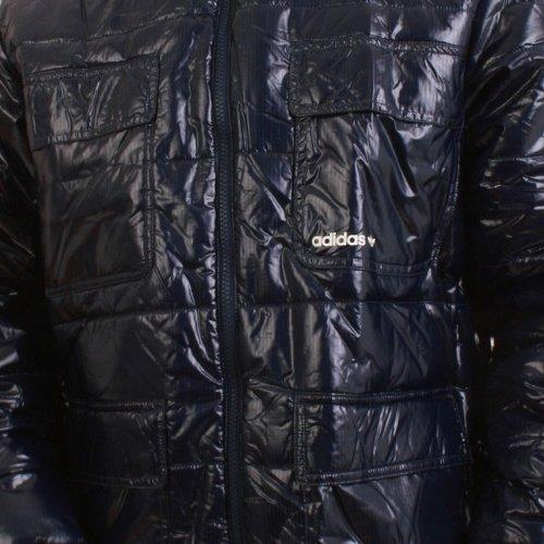 Adidas Veste pour homme–Shiny Padded–drkindigo