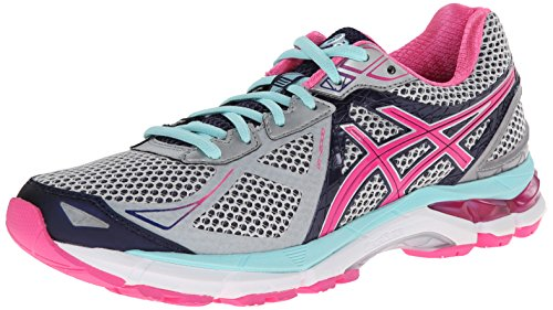 ASICS Women's GT-2000 3 Trail Running Shoe Lightning/Hot Pink/Navy 6.5 2A - Narrow