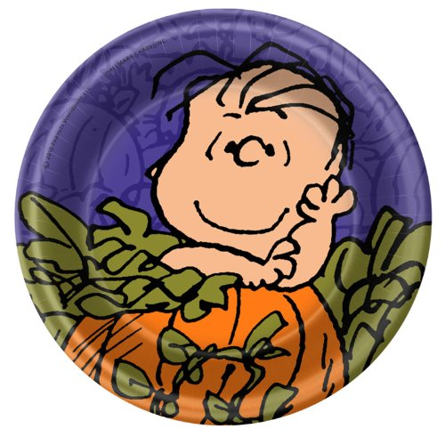 Peanuts Snoopy Halloween Small Paper Plates -